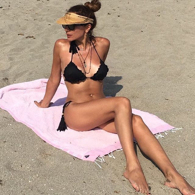Triangle bikini and towel by #despinavandicollection #limnos #towel #beachlife…