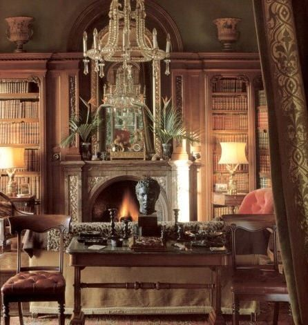 200 best antique home office furniture library images on for English library decor