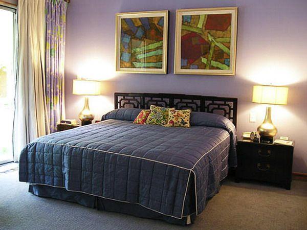 Elegant Modern Purple Master Bedroom Decorating Inspirations Picture