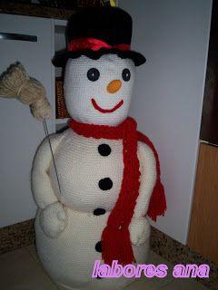 el blog de anamary: muñeco de nieve ...paso a paso