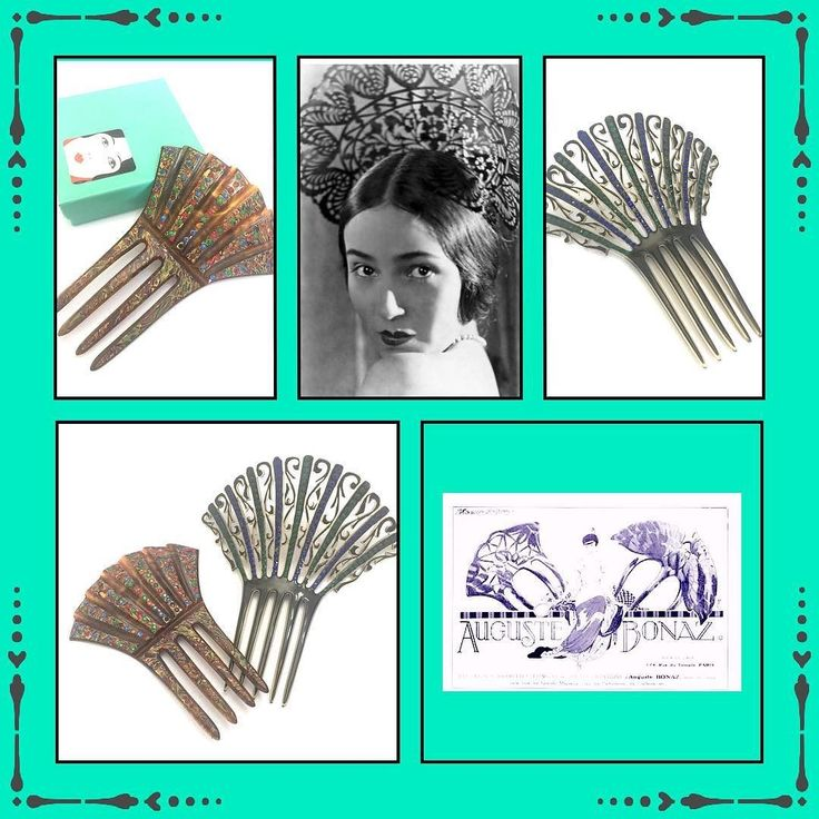 Art Deco Celluloid Hair Combs Black Celluloid Mantilla Comb Rhinestones Multi-Colored Celluloid Comb Vintage Hair Ornaments Early 1900s. #fashion #musthave #style #instamall #instagood #shoppingtime #collectiblevintage #instacool #instapic #iphonesia #repost #costumejewelry #vintagesterling #jewelry #vintage #vintagelovers #shopsmall #shopvintage #gifts4Her #MomBosses #shopetsy #collectiblevintage #plsfollow4update #more2Come