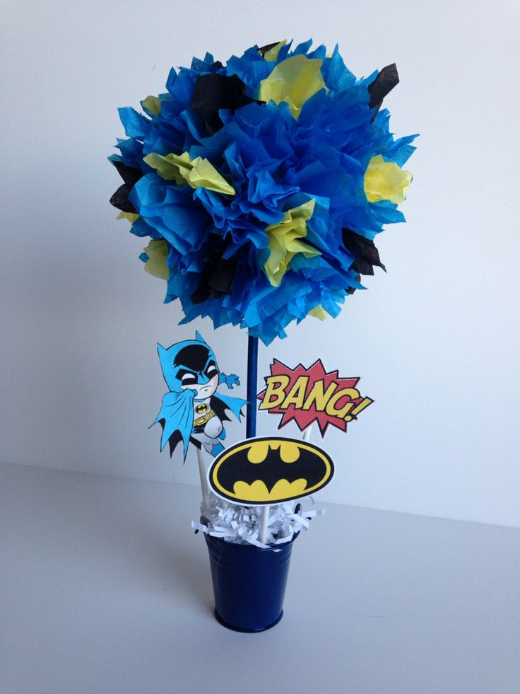 Batman Super Hero birthday party decoration by AlishaKayDesigns, $12.00