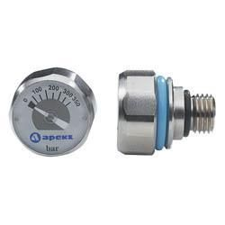 Apeks Miniature Pony Indicator 23mm wide 350 bar indicator. A miniature yet accurate and robust 350 bar pressure gauge designed to fit directly into the HP port of a pony regulator. This negates the need for a trailing hose and off http://www.comparestoreprices.co.uk/water-sports/apeks-miniature-pony-indicator.asp