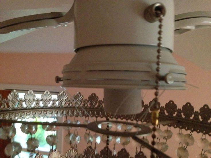 Mess Of The Day Ikea Hack Ceiling Fan Chandelier