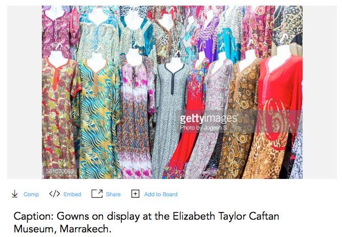 Absolutely Fabulous Ab Fab meme Elizabeth Taylor Caftan Museum Marrakech