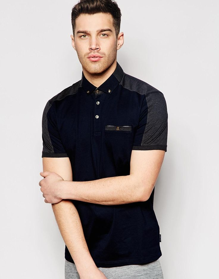 Enlarge Ted Baker Polo Shirt With Panels
