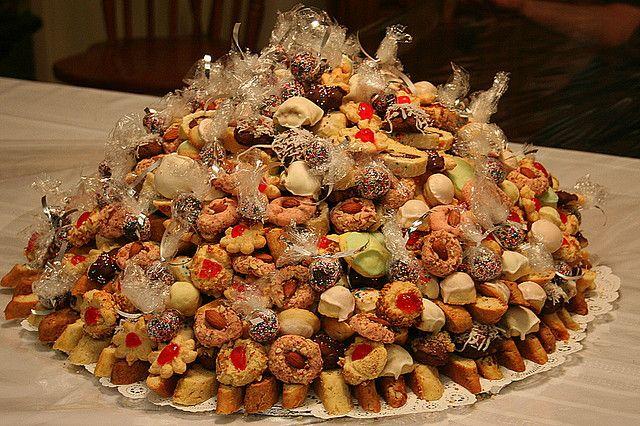 How to Make a Italian Wedding Cookie Cake