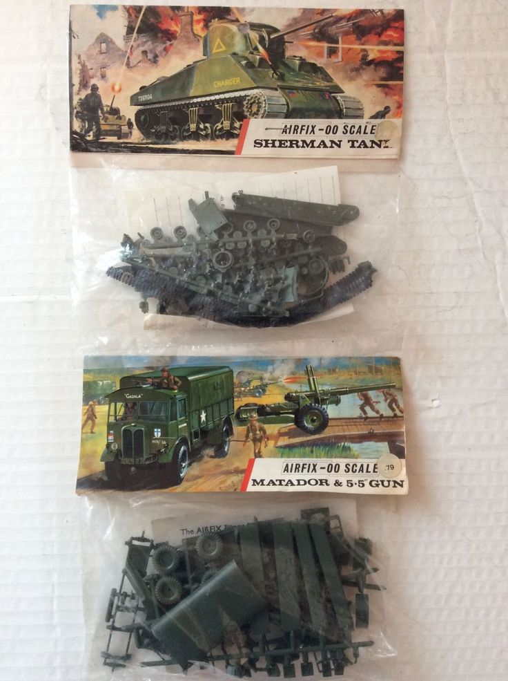 Airfix X 2 kits Matador and Sherman Tank 1960's | eBay