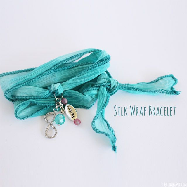 Silk Wrap Bracelet Tutorial - Created by my 9 year old daughter! Oh so pretty and oh so easy!