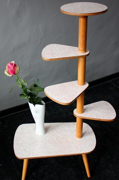 Blumentisch, Tisch, Blumenständer, 50er, 60er, ...