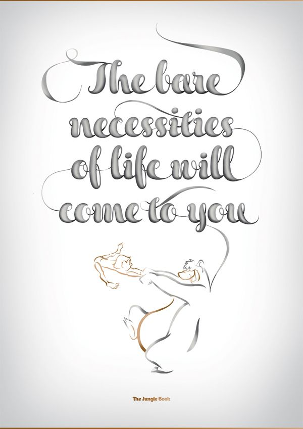 Disney Typography Series by Vanessa Fahy, via Behance