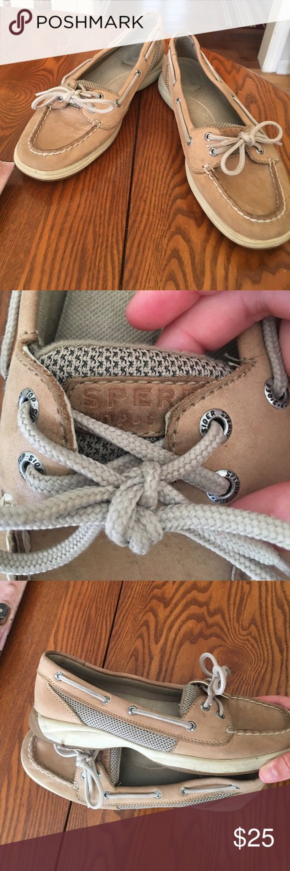 Girls Sperry's Alittle worn but no rips or tears or scratches! For the most part look new! Sperry Top-Sider Shoes Sandals