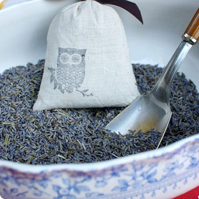 23 Great Lavender Recipes and Crafts - Uses for Lavender - Country Living | Stamped Lavender Sachets