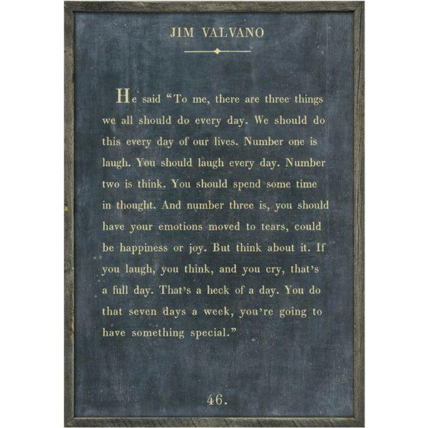 Grey Wood Art Print Jim Valvano