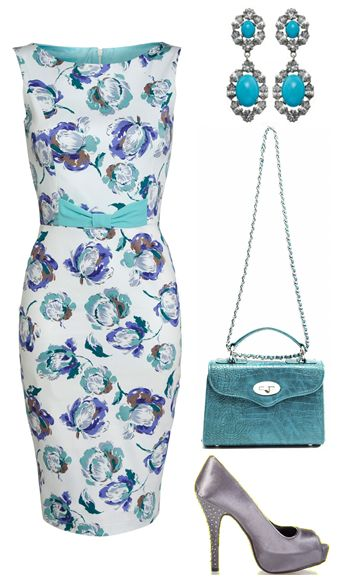 Style yourself in pretty florals for a country or vintage wedding.