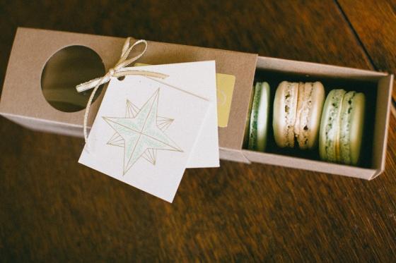 Beautiful macaron packaging