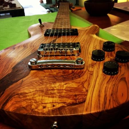 Gibson style guitar made of olive wood-want this!