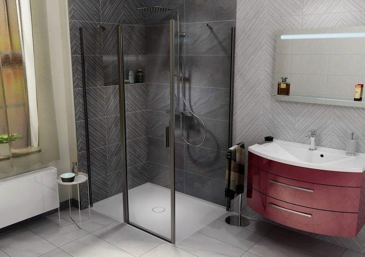 MIRAI sprchová vanička z litého mramoru, čtverec 90x90x1,8cm, bílá, SAPHO E-shop