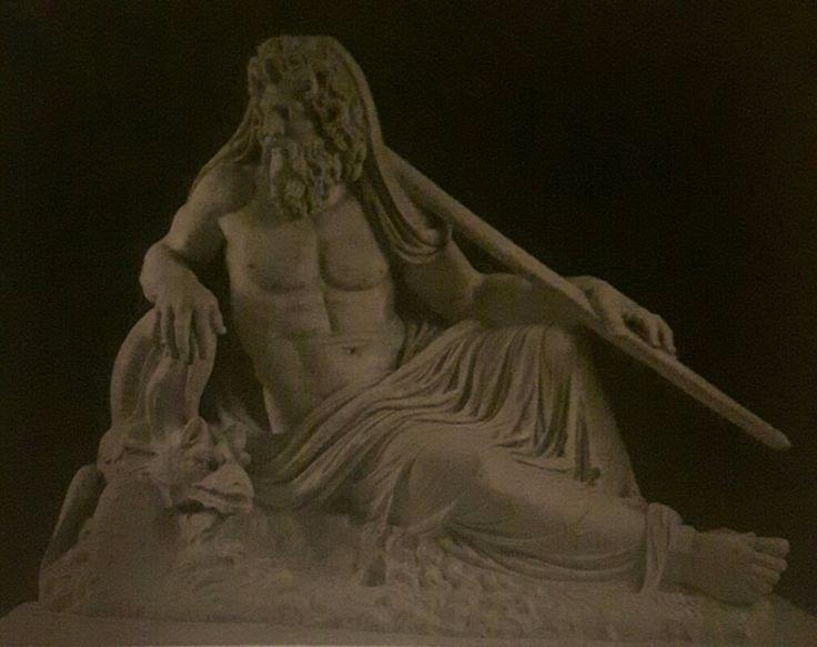 Statua di Oceano. Seconda metà del II secolo d.C.  il tema figurativo di Okeanos fu fissato in età ellenistica