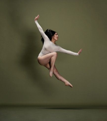 Dancer Jumping on Olive Green -  Images by Alexis McKeown