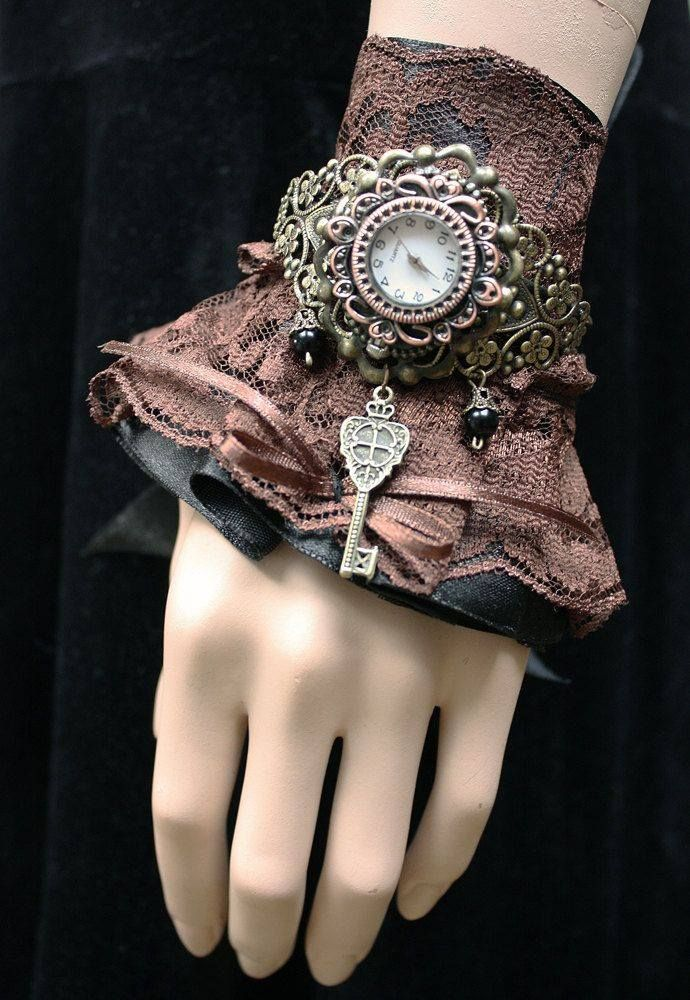 Vintage lace finger less hand glove.