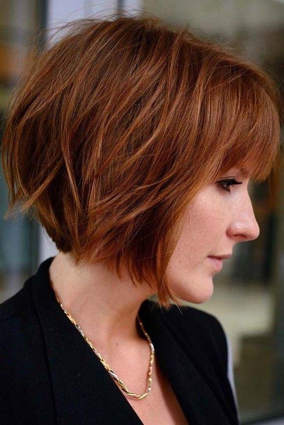 60 Dare To Be Beautiful With Short Hairstyle Look Frisuren Bob Frisur Haarschnitt