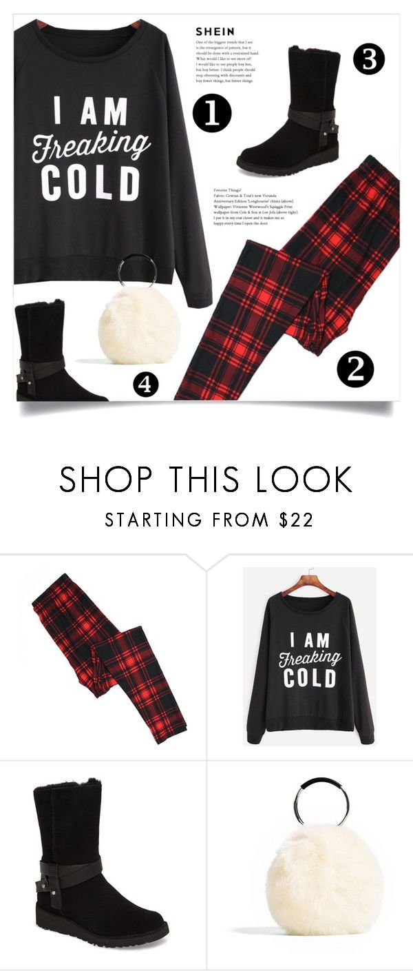 """""""Shein Sweater"""" by tawnee-tnt ❤ liked on Polyvore featuring UGG"""