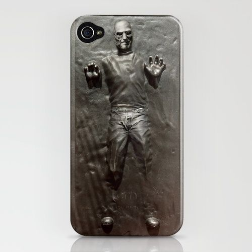 steve jobs in carbonite iPhone case, from society6: Iphone Cases, Carbonit Iphone, I Phones Cases, Stars War, Star Wars, Phones Covers, Steve Jobs, Products, Starwars