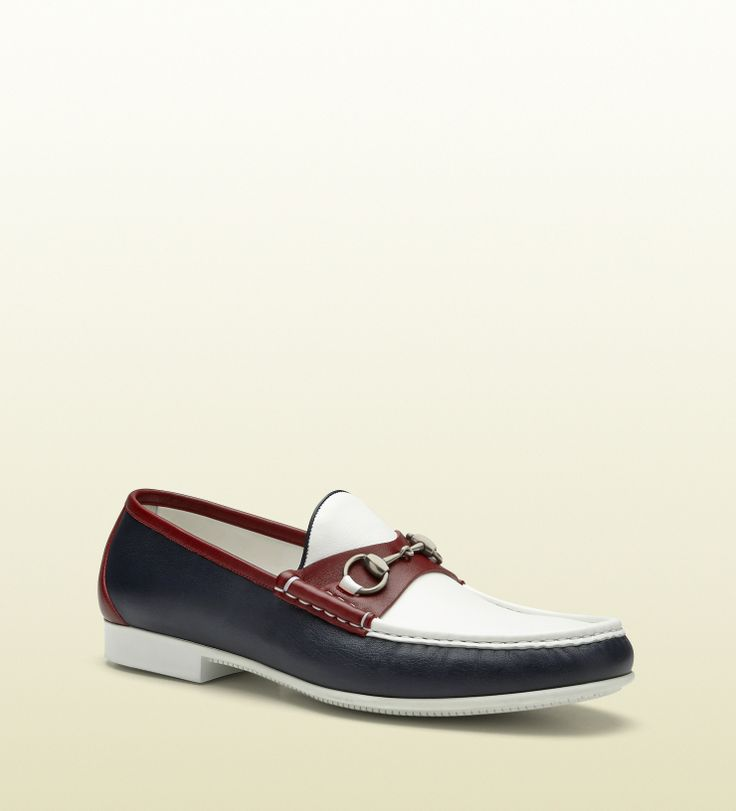 white gucci dress shoes for men. gucci - 337060 ayo70 4068 multicolor leather horsebit loafer blue, white and red. men dress shoesshoes shoes for g