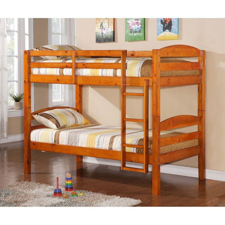 Walker Edison Solid Wood Bunk Bed - HNWSTOTHY