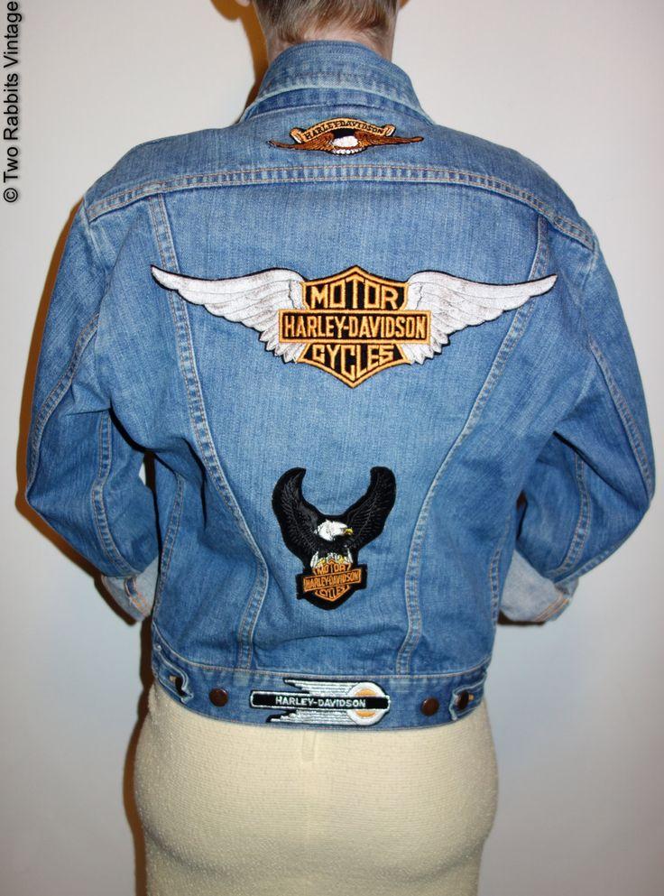 70s Wrangler denim jacket with Harley Davidson patches