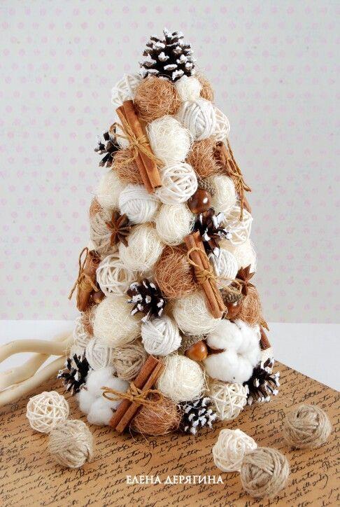 Новогодняя Эко-елка из натуральных материалов