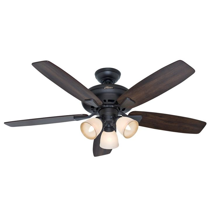 hunter 52 in winslow new bronze ceiling fan with light kit lowe 39 s. Black Bedroom Furniture Sets. Home Design Ideas