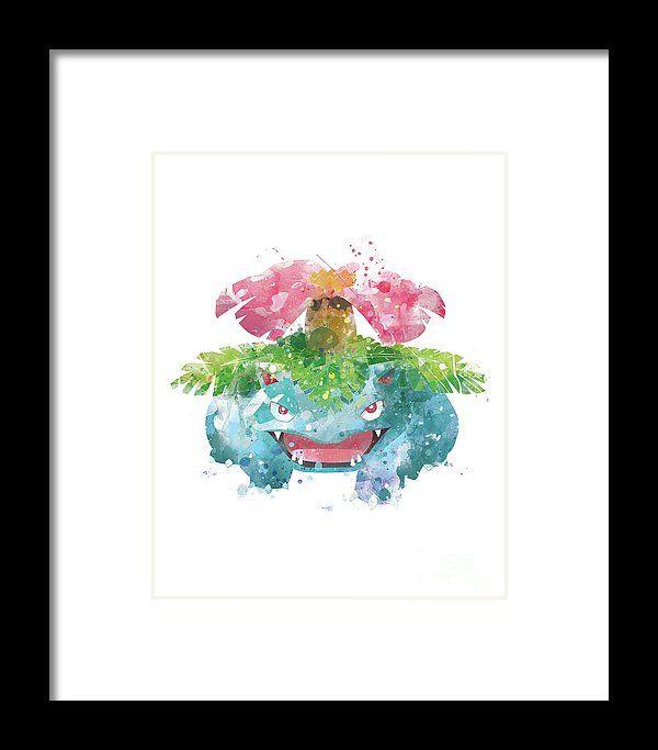 Pokemon Venusaur Framed Print #pokemon #pokemongo #framedprint #nursery #kidsroom