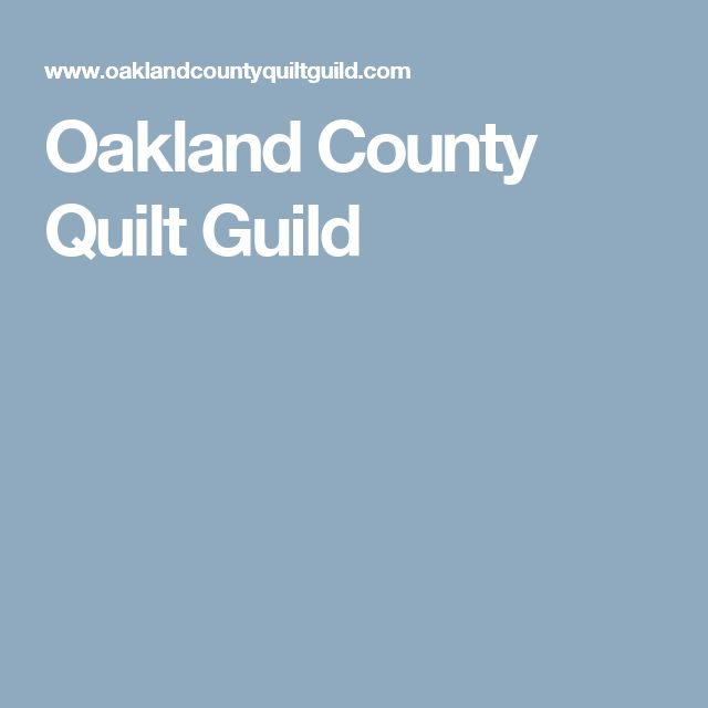 Oakland County Quilt Guild