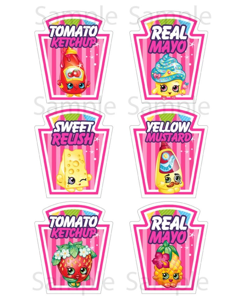 Download For Free Shopkins Condiment Labels