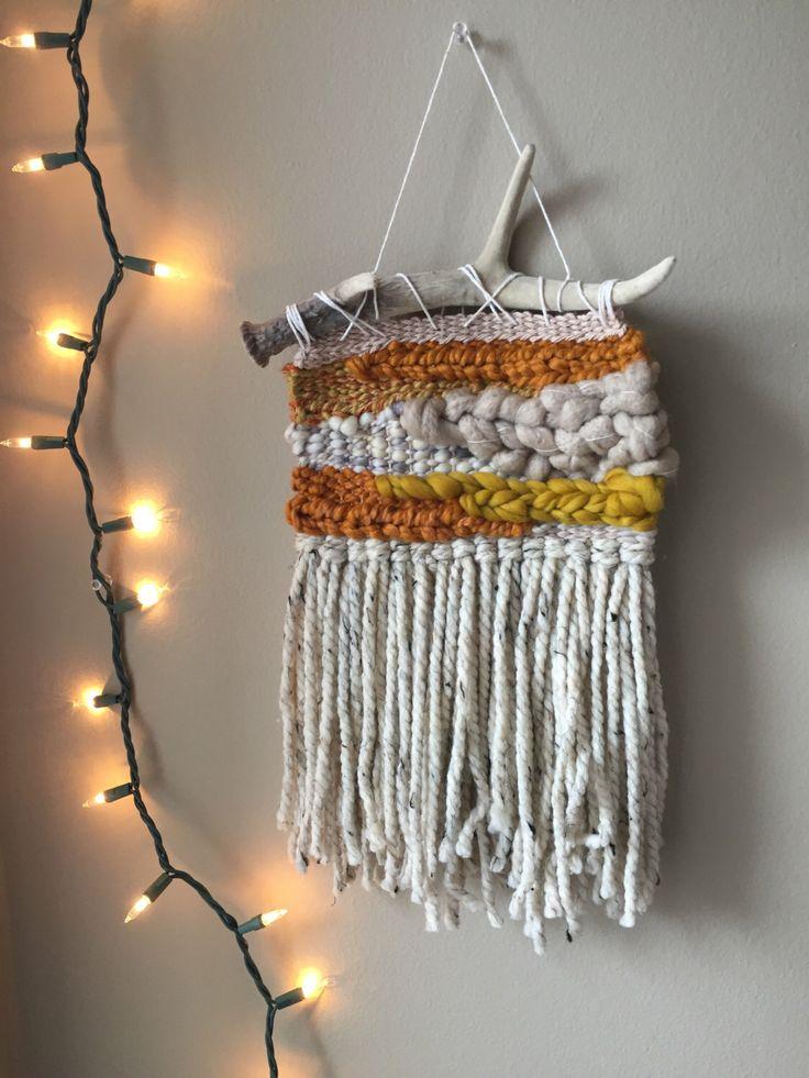 weaving wall hanging, woven wall hanging, woven weaving, wall weave, weaving, woven tapestry, yarn wall hanging, macrame wall hanging, boho by PineapplePhi on Etsy https://www.etsy.com/listing/488606243/weaving-wall-hanging-woven-wall-hanging