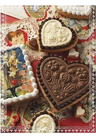 Pressed Valentine's Day Cookies.