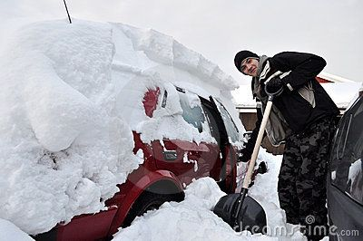 """#Teenager   digs out the car from  snow #FineArtPhotography by #Tamara SUshko#FineArtLandscapes #Zen #Nature  #Norrbotten """"Sweden"""