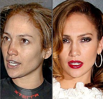 Famous Actresses Without Makeup | Celebrities Busted Without Makeup - Jennifer Lopez - Photo