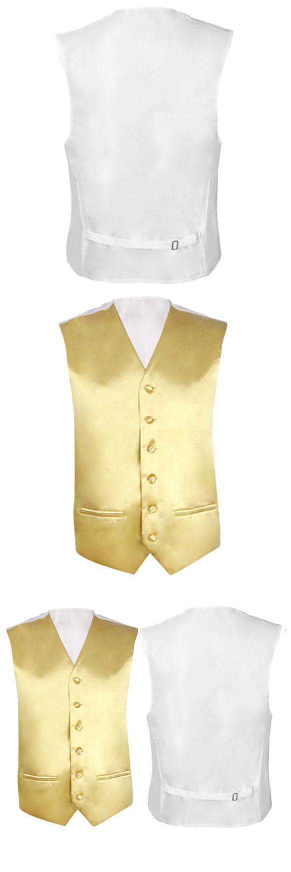 Mens Wedding Waistcoat Groom (Gold 3XL/UK 46)
