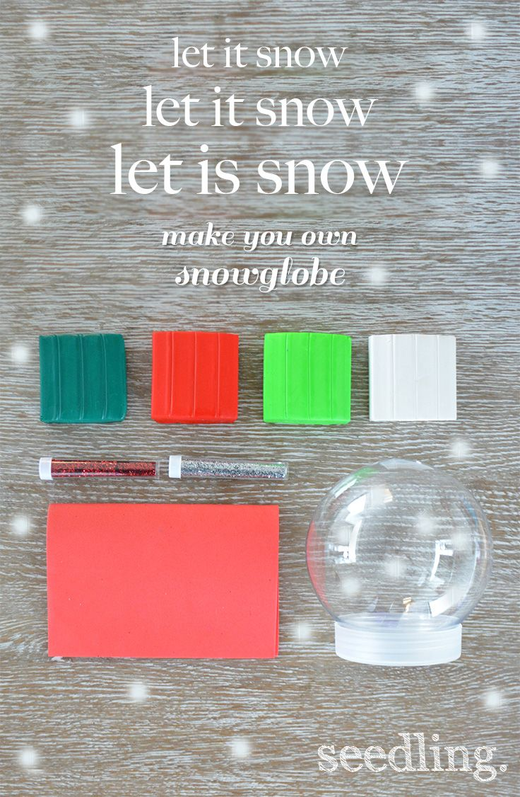 Let it snow! Make your own snow globe activity kit!