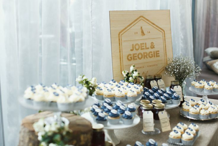 JG cupcake table | Styling by Four Leaf | Justin Hill Photography