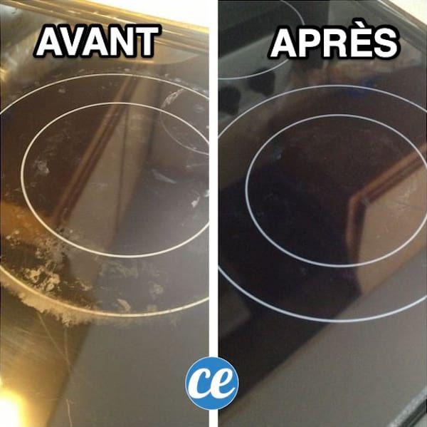 plaque de cuisson sale utilisez du bicarbonate vinaigre blanc pour les faire briller