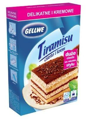 GELLWE 450g Ciasto Tiramisu + Krem  • klasyczny włoski przepis • biszkopt nasączony kawą • delikatny krem • prosty, sprawdzony przepis