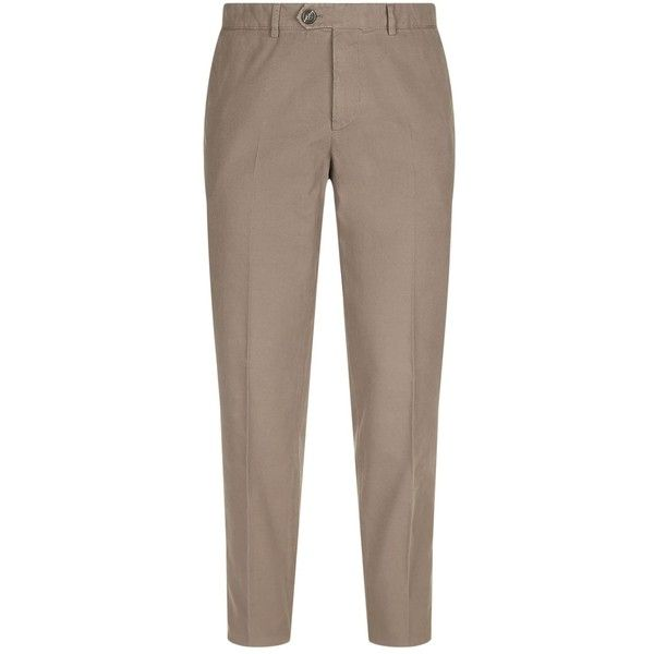 Brunello Cucinelli Cotton Chinos ($650) ❤ liked on Polyvore featuring men's fashion, men's clothing, men's pants, men's casual pants, mens chino pants, mens slim fit chino pants, brunello cucinelli mens pants, mens chinos pants and mens slim fit pants