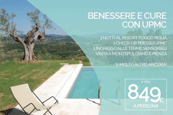 BENESSERE E CURE CON UPMC 3 notti in un resort da sogno con check-up UPMC a 849 euro a persona