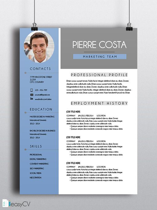 16 best images about template cv on pinterest