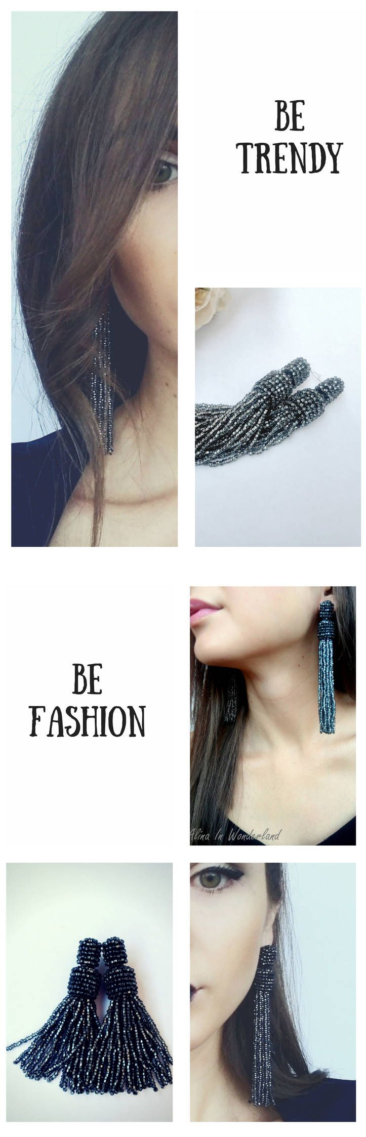 Trends 2018 Best earrings for PROM, sparkle tassel earrings http://etsy.me/2nss4xV #etsy #earrings
