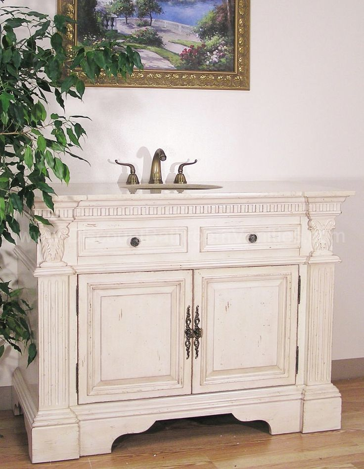 Antique White Bathroom Cabinets 170 best single antique bathroom vanities images on pinterest